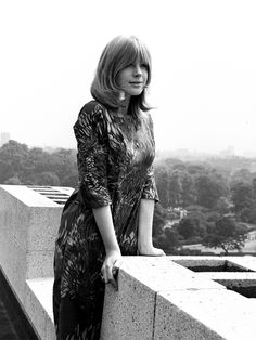 """faithfullforever:  Seventeen-year-old Marianne Faithfull posing in one of her first photoshoots in the summer of 1964. It was almost exactly 50 years ago that Marianne released the single that would launch her career - """"As Tears Go By"""". In the summer of 2014 she is still going strong, celebrating her half-century stage anniversary and looking forward to the release of her new album """"Give My Love To London""""."""