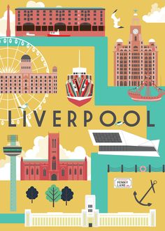Liverpool print by Natalie Singh