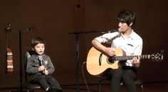 Sungha Jung and Lincoln Singing