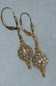 14 kt GF Swarovski Crystal AB Sparkle Dangle by dsmenagerie, $22.99
