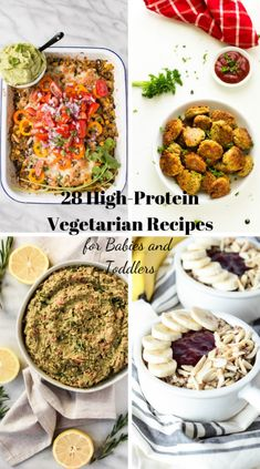 30 High-Protein Vegetarian Recipes for Toddlers // vegetarian meals for fussy ea. - 30 High-Protein Vegetarian Recipes for Toddlers // vegetarian meals for fussy eaters // high protei - Baby Food Recipes, Easy Dinner Recipes, Whole Food Recipes, Kid Recipes, Chicken Recipes, Recipies, Vegetarian Meals For Kids, High Protein Vegetarian Recipes, Vegan Recipes