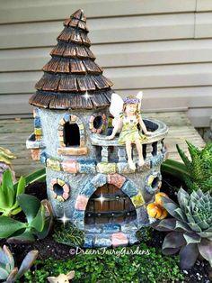 Fairy tuin fairy kasteel sprookje kasteel miniatuur kasteel