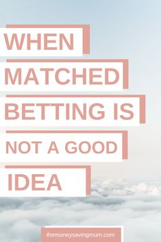 Everyone raves about matched betting and how awesome it is but do you know when matched betting is NOT a good idea? Make Easy Money, Ways To Save Money, Money Tips, Online Earning, Earn Money Online, Matched Betting, Tax Free, Frugal Living Tips, Lost Money