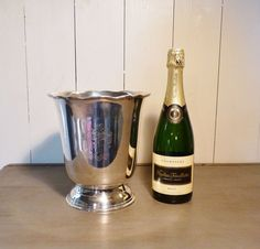 Lovely heavy vintage silver plated ice bucket by LeCrazyHorse