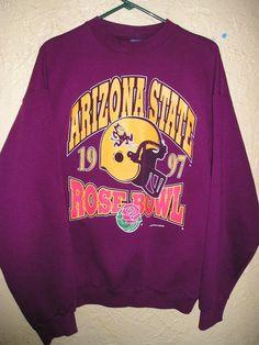 Vtg 1997 ROSE BOWL ASU Arizona State University SWEATSHIRT sz XL Trau & Loevner #TrauandLoevner #ArizonaSunDevils
