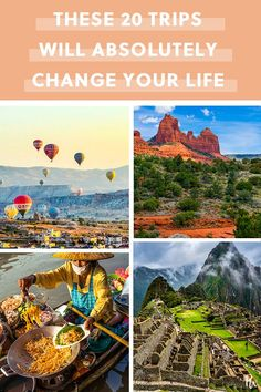 25 trips that will absolutely change your life # vacation Oh The Places You'll Go, Places To Travel, Travel Destinations, Places To Visit, Vacation Trips, Dream Vacations, Vacation Spots, Vacation Travel, Travel Goals
