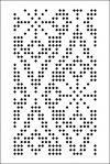 Galleri stansede kort til strikkemaskiner 3 og 5 klasse (SILVER REED, BROTHER) med rapport 24 løkker