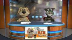 Talking Tom and Ben News is a free digital storytelling app. Funny Cat Videos, Funny Jokes, Fun Funny, Talking Tom 2, Storytelling App, Gummy Bear Song, Narrativa Digital, Bear Songs, Movie Talk
