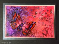 Designs by Ryn: Some cards I've missed sharing...Love these colors & the water color effect!