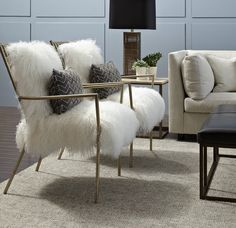 Fabulous Fur Furniture at Mitchell Gold + Bob Williams | The English Room
