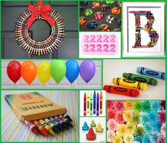 Great ideas for a crayon themed party, maybe for Ava's 3rd birthday hmmm