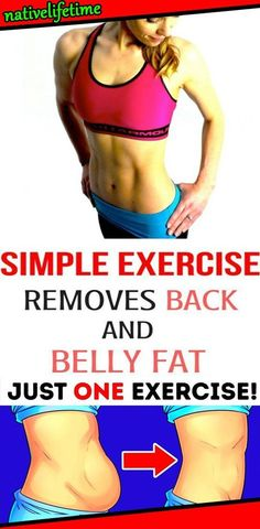 This Simple Exercise Removes Back and Belly Fat in No Time! Wellness Fitness, Fitness Diet, Health Fitness, Easy Workouts, At Home Workouts, Fitness Workouts, Abdominal Muscles, Excercise, Yoga Poses