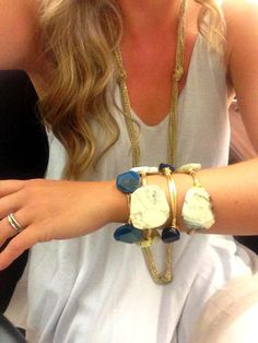Yummy! Navy and cream Reece & Blaire stack...perfect for fall www.reeceblaire.com