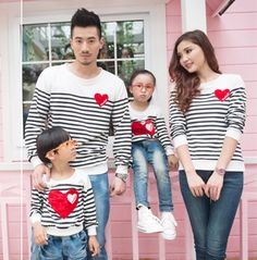 Family Matching Clothing Soft Cotton Shirt Matching Mother Daughter Clothes Family Look Style Father Mother Son Set