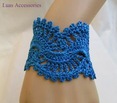 Hey, I found this really awesome Etsy listing at https://www.etsy.com/listing/246474524/turquoise-bracelet-crochet-bracelet