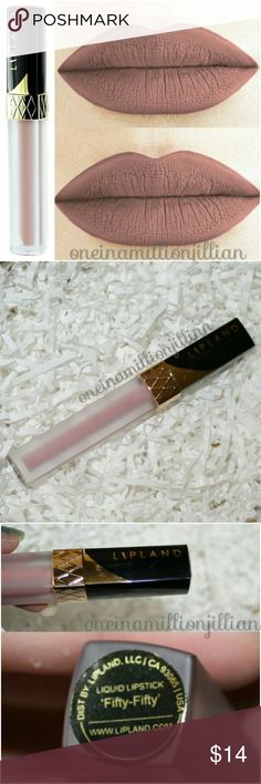 Lipland Cosmetics Liquid Lipstick Fifty-Fifty New - Never Used  Full Sz & Authentic  Color: Fifty-Fifty (neutral fawn)  Armed with just the right balance of pigmentation & depth, this will be your secret weapon in creating the perfect pout. Ultra long lasting & glides on liquid smooth, this lipstick dries to an immaculate matte finish.  Check my page for more great items & discounts. #oneinamillionjillian Lipland Makeup Lipstick