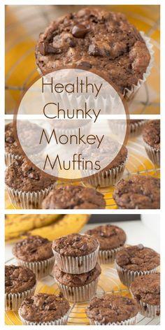 Healthy Chunky Monkey Muffins