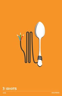 The Minimalist fan made poster of 3 Idiots. 3 Idiots is a 2009 Indian coming of age comedy-drama film co-written, edited and directed by Rajkumar Hirani. Iconic Movie Posters, Minimal Movie Posters, Minimal Poster, Movie Poster Art, Film Posters, Poster Poster, Bollywood Quotes, Bollywood Posters, Minimalism Movie