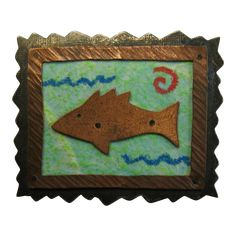 Donchian Sterling Copper Fish Brooch 1989 offered by Cousins Antiques on Ruby Lane