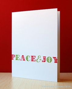 Festive Peace & Joy Card by Cristina Kowalczyk for Papertrey Ink (September 2012)