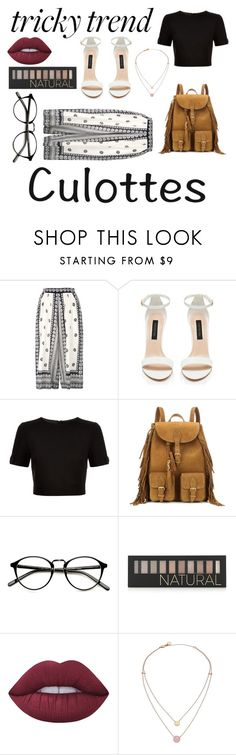 """tricky trend: Culottes"" by zagl on Polyvore featuring Sea, New York, Ted Baker, Yves Saint Laurent, Forever 21, Lime Crime, Michael Kors, TrickyTrend and culottes"