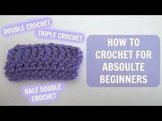 How Do I Learn To Crochet : How Do I Crochet: Left Handed Double Crochet Double Crochet, Crochet ...