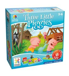 Mum I want this! Great puzzle fun by SmartGames. Can you help these three smart pigs build their houses? Can you set them up so that the pigs can play outside?