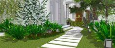 Hình ảnh một con đường với thiết kế độc đáo trong thiết kế cảnh quan sân vườn http://greenmore.vn/dich-vu/thiet-ke-canh-quan-san-vuon/