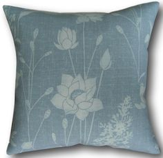 Designer Cushion Covers made in Laura Ashley Dragonfly Garden Chalk Blue Pillows Floral Cushions, Velvet Cushions, Cushion Covers Uk, Cushion Cover Designs, Laura Ashley Fabric, Laura Ashley Home, Blue Pillows, Throw Pillows