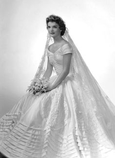 "Jacqueline Bouvier married then-U.S. Representative John Fitzgerald ""Jack"" Kennedy in September 1953 in Newport, Rhode Island.  Her beautiful gown was designed by Ann Cole Lowe, an African American designer from Alabama who designed gowns for many of the upper crust of New York and Hollywood."