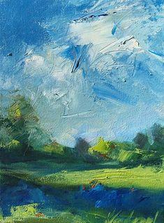 "Daily Paintworks - ""Bluebonnet Time"" - Original Fine Art for Sale - © Karen Vanderpool"