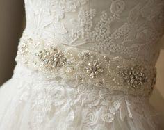 Perle Braut Schärpe, Gürtel, Spitze Hochzeitskleid, Kristall Hochzeit Gürtel, breit Hochzeit Schärpen Gürtel, Elfenbein-Spitze, Perle Braut Schärpe