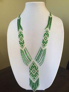 Ethnic Beaded Necklace Folk Necklace Ukrainian by CreativeBeads4U