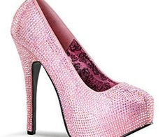 I'm thinking about how tall and sparkly I'd be in these. Plus the added bonus of pink = I love these. Haha