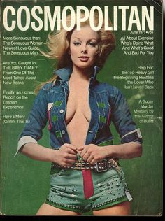 """Cosmopolitan magazine, JUNE 1971 Model: Dian Parkinson First Cosmo cover to have a blurb mentioning """"lesbian"""""""