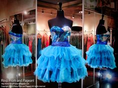 Royal/Teal Sequined Strapless Sweetheart Tulle Homecoming Dress