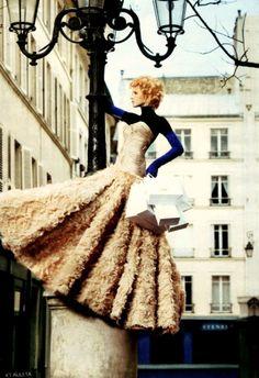 Svetlana Lazareva in Versace Spring 2007 Couture for Vogue May 2007