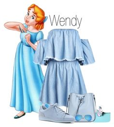Wendy Darling by disneybounder105 on Polyvore featuring polyvore fashion style ED Ellen DeGeneres Armani Jeans Ray-Ban clothing