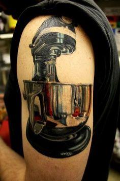 #Appliancetattoo, electronic tattoo, food processor tattoo, blender tattoo, #kitchenaide