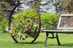 Show your hanging basket style in this brilliant circle adding a bit of drama to your garden.
