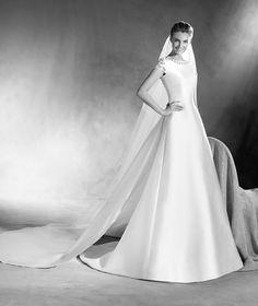 Emireth - A-line Mikado wedding dress