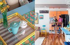 Com soluções espertas, a marcenaria personalizada – e coberta de tons alegres – é o ponto alto deste apartamento de 50 m², em Santo André. O projeto é da arquiteta Letícia Arcangeli