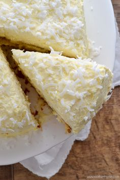 Coconut Cream Cake with Coconut Cream Frosting from Mother Thyme