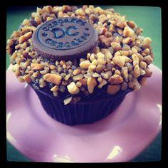 @georgetowncc Chocolate Banana Hazelnut Cupcake