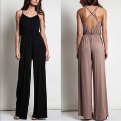 1 HR SALEMIKESA wide leg jumper - 3 colors How freaking hot is this wide leg jumper? Come on! I'm so ready for spring! Living in Cali we don't see much of winter. ‼️NO TRADE‼️ Bellanblue Pants Jumpsuits & Rompers