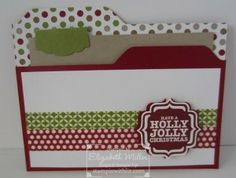 Gift card holder featuring Stampin Up Tags 4 You stamp set and More Merry Messages stamp set