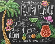 Cadeau de barman Print Cocktails Bar chariot par LilyandVal