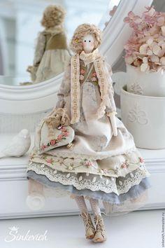 Купить Оливия - тильда, кукла текстильная, кукла интерьерная, тильда кукла, нежная, для интерьера, для декора
