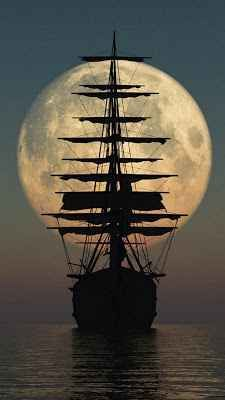 sail away .sail away.sail away Tall Ships, Moon Pictures, Moon Photos, Images Photos, Nature Pictures, Pirate Life, Pirate Art, Beautiful Moon, Beautiful Scenery