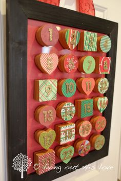 Advent Calendar - I am SO doing this this year! Totally gorgeous!